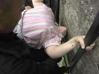 kissing the Blarney Stone and banging my nose