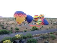 hot air balloon with Rainbow Ryders