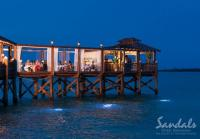 dinner Bahamas style at the Sandals Royal Bahamian Resort
