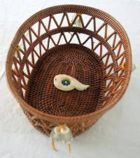 basket from Juneau Alaska, made by Native Americans