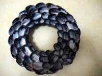 Mussel shell wreath from Rocky Neck, MA