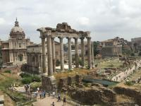 in awe of the Roman forum
