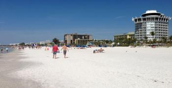 wide expanses of soft sand at St. Pete's beach