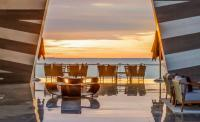sunset views from the Grand Velas lobby
