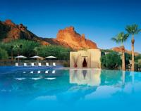 Sanctuary Infinity pool nestled within Camelback Mountain