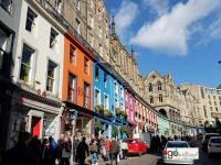 colorful shops in the GrassMarket