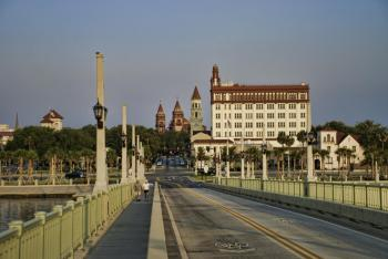 St. Augustine from the Bridge of Lions (image provided by FloridasHistoricCoast.com)