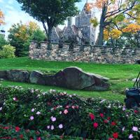 visiting Boldt Castle, 1000 Islands