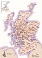 Clan Regions of Scotland (click any to enlarge)