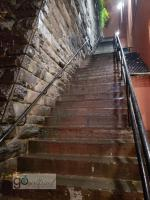 a spooky stop at the Exorcist Steps