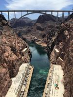 Hoover Dam looking downstream