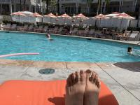 poolside relaxation at Hotel Del Coronado