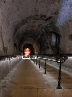 Pommery's 160 stairs take you down to the chalk cellars