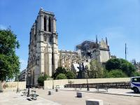 Notre Dame Cathedral under repair sadly