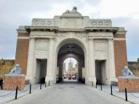 the Menin Gate, Ypres, Belgium