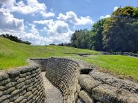 restored trenches at Vimy Ridge