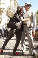 Mickela Mallozi dancing tango in Sal Telmo market - photo by Bridget Palardy