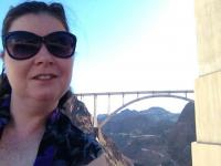 Lisa at the Hoover Dam